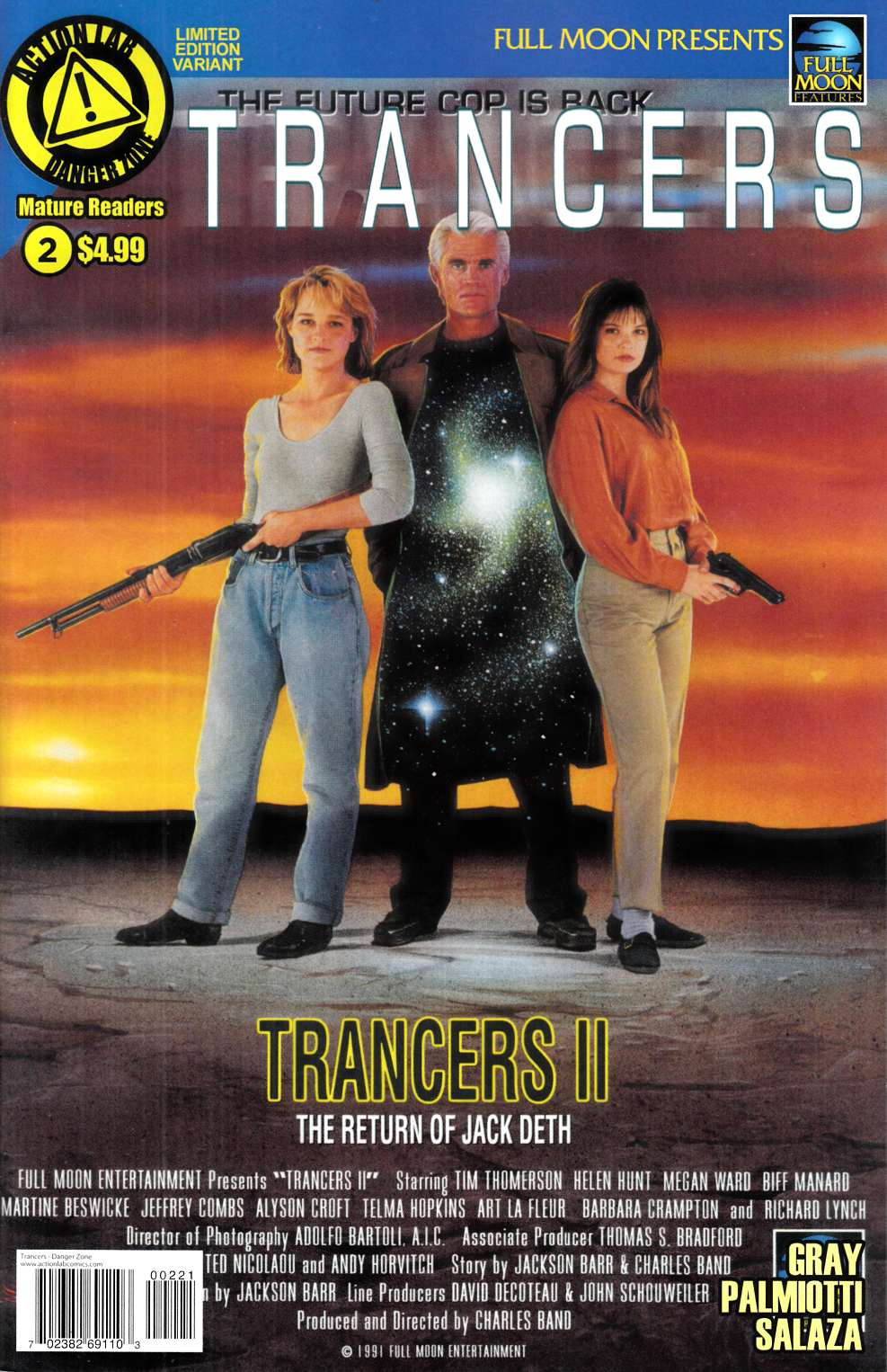 Trancers #2 Movie Poster Variant Cover [Action Lab Comic] THUMBNAIL