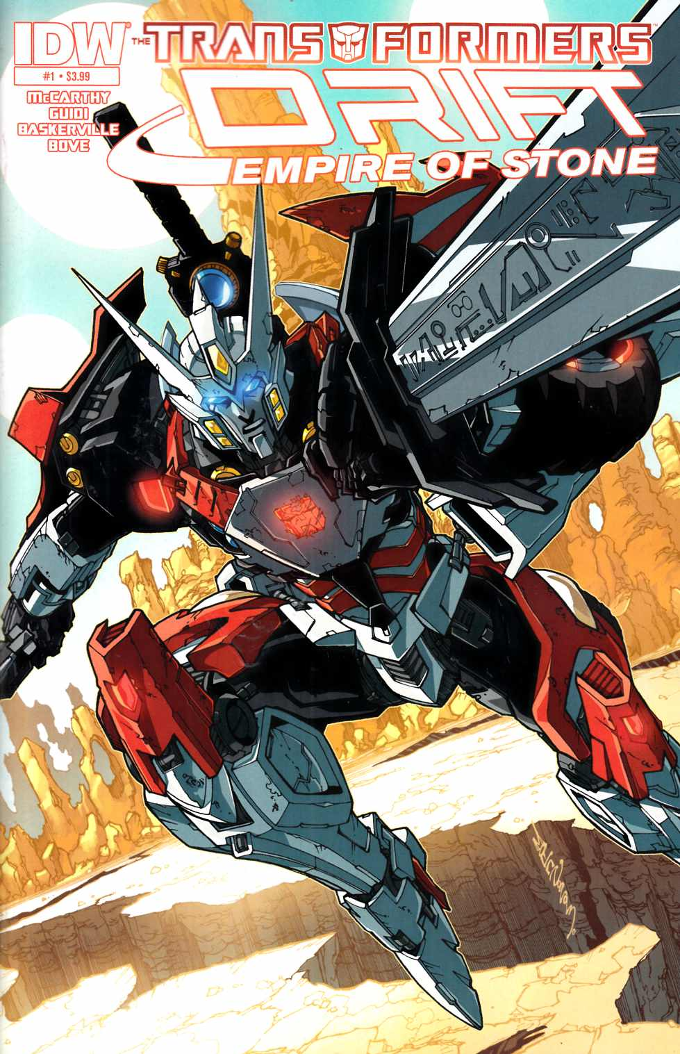 Transformers Drift Empire of Stone #1 [IDW Comic] LARGE