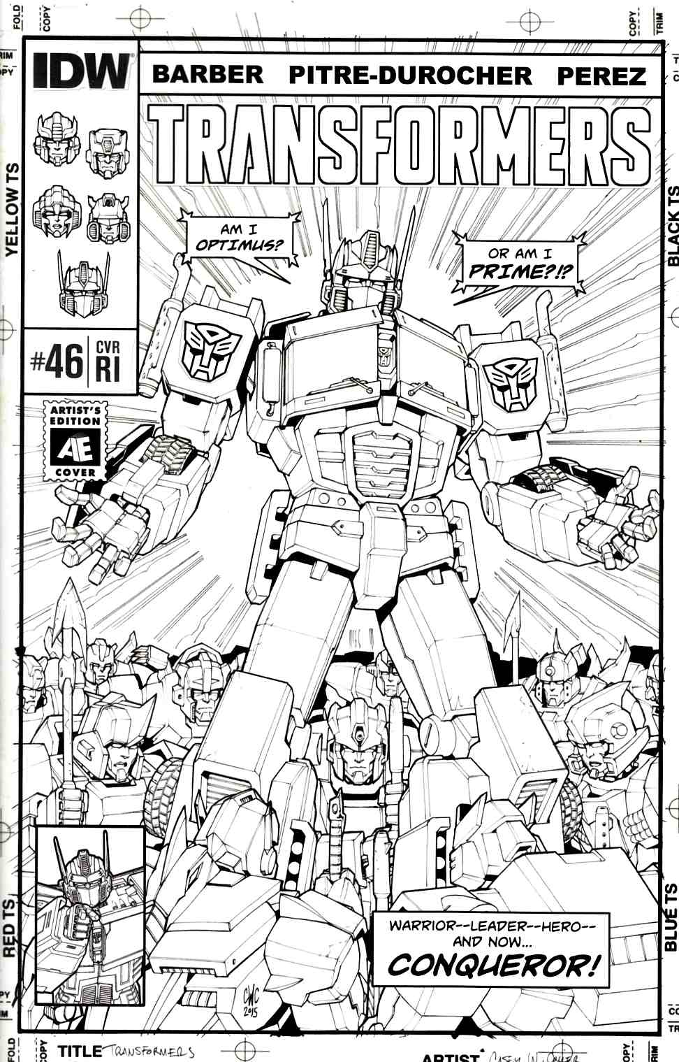 Transformers #46 Cover RI [IDW Comic]