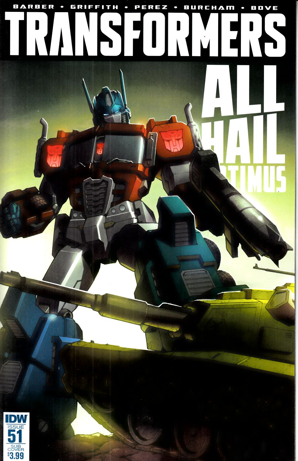 Transformers #51 Subscription Cover [IDW Comic] THUMBNAIL