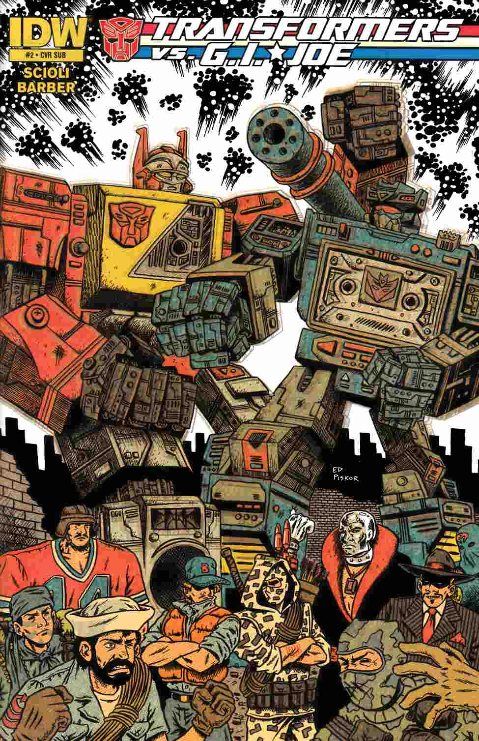 Transformers vs GI Joe #2 [Comic] LARGE