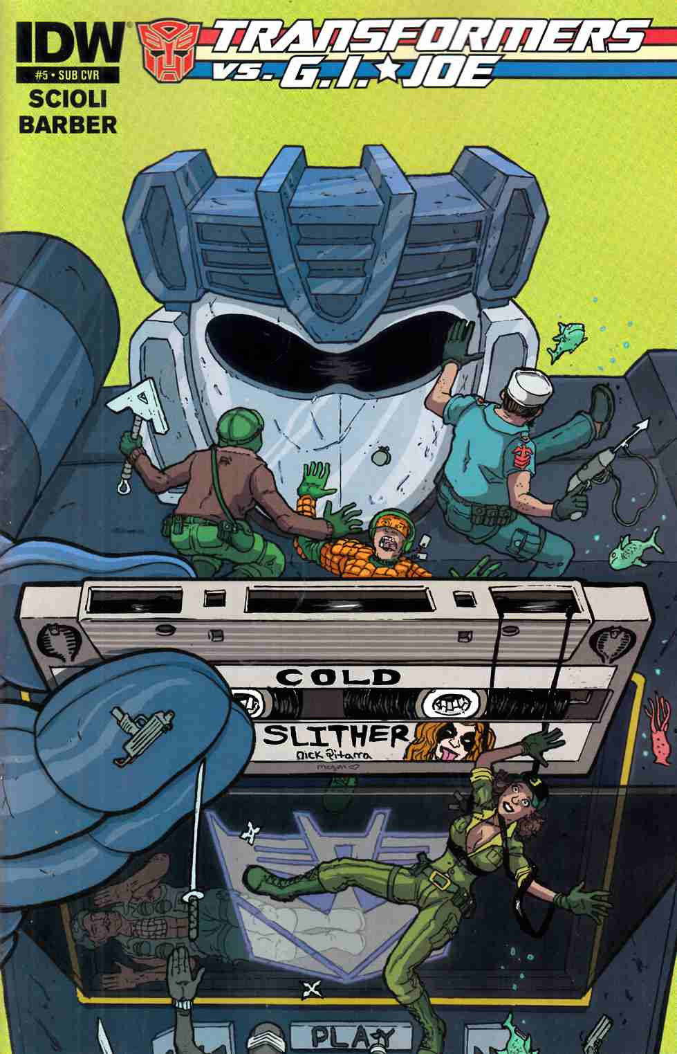 Transformers vs GI Joe #5 Subscription Cover [IDW Comic] THUMBNAIL