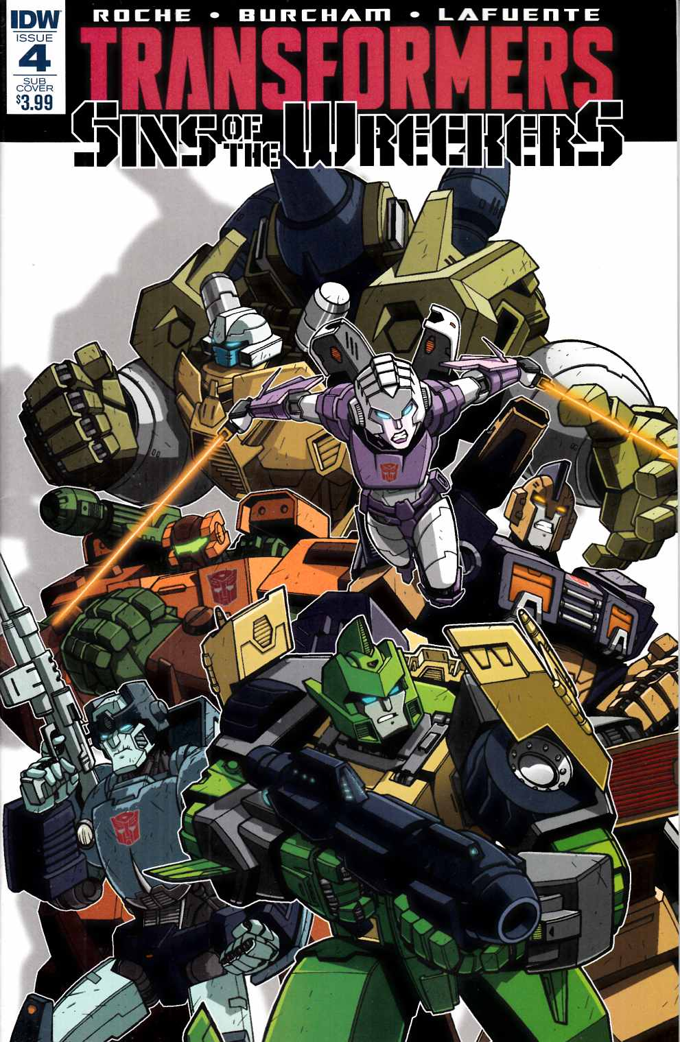 Transformers Sins of Wreckers #4 Subscription Cover [IDW Comic] THUMBNAIL