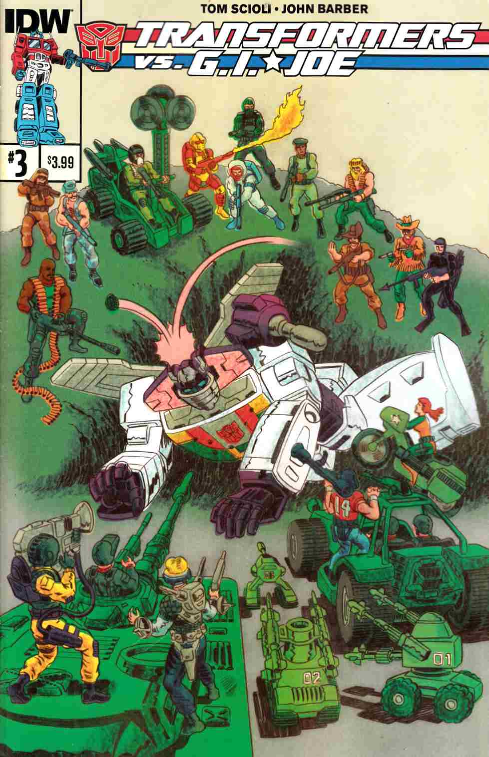 Transformers Vs GI Joe #3 [IDW Comic] THUMBNAIL