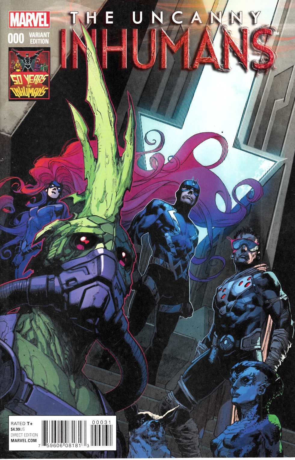 Uncanny Inhumans #0 Inhuman 50th Anniversary Variant Cover [Marvel Comic] THUMBNAIL
