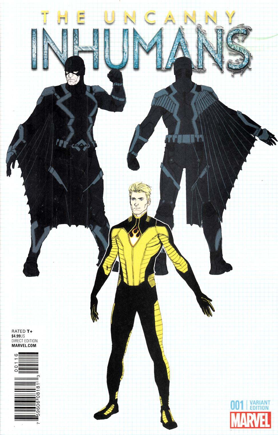Uncanny Inhumans #1 McNiven Design Cover [Marvel Comic] THUMBNAIL