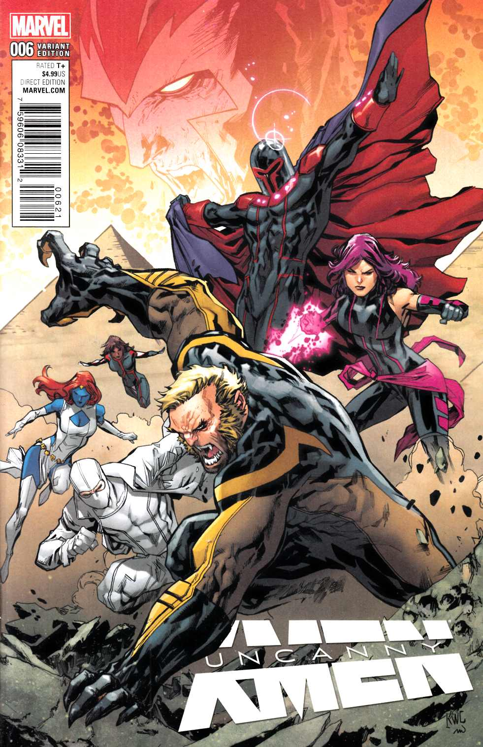 Uncanny X-Men #6 Lashley Connecting B Variant Cover [Marvel Comic] THUMBNAIL