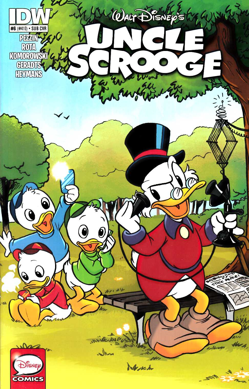 Uncle Scrooge #6 Subscription Cover [IDW Comic] THUMBNAIL