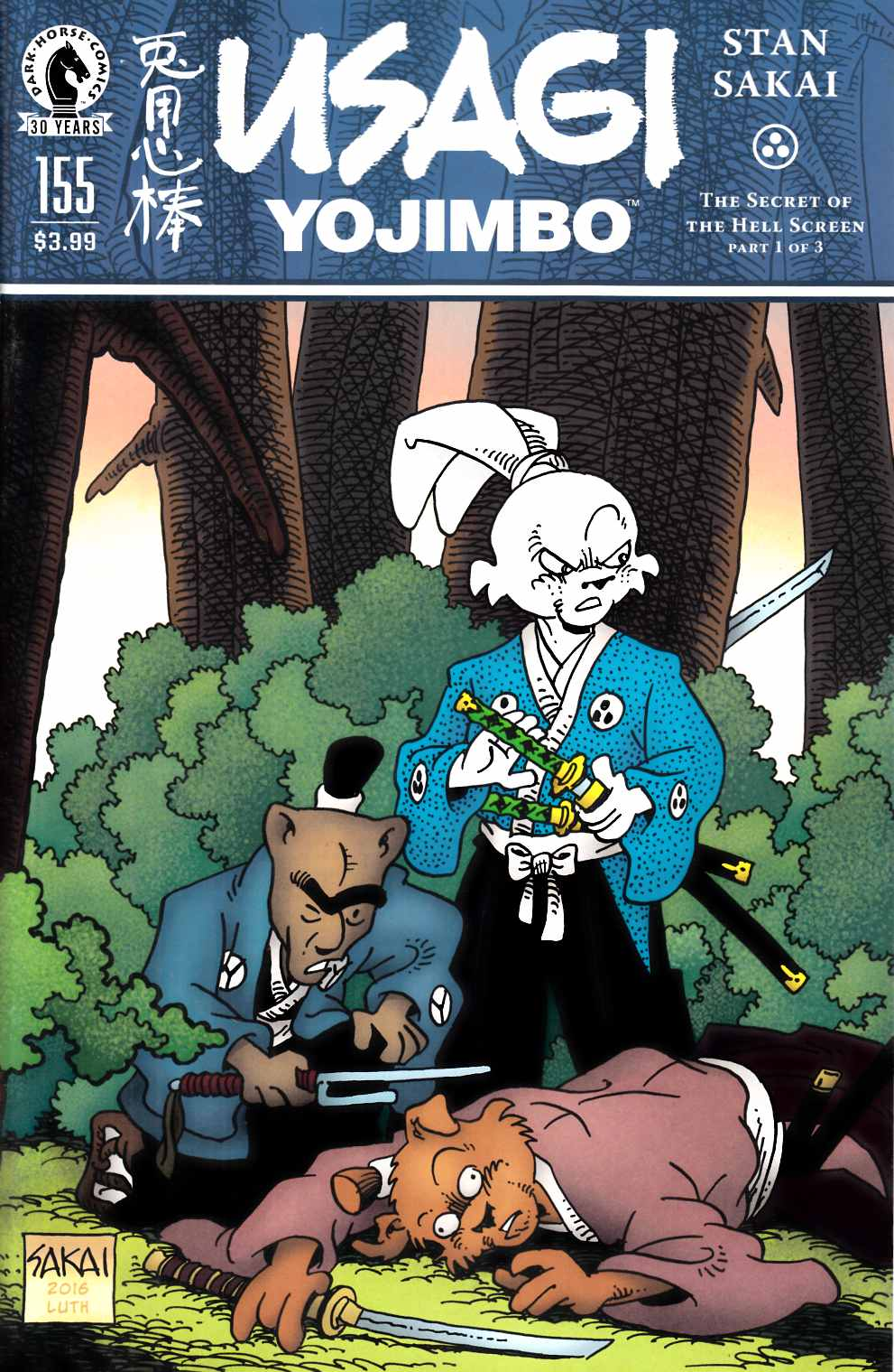 Usagi Yojimbo #155 [Dark Horse Comic] THUMBNAIL