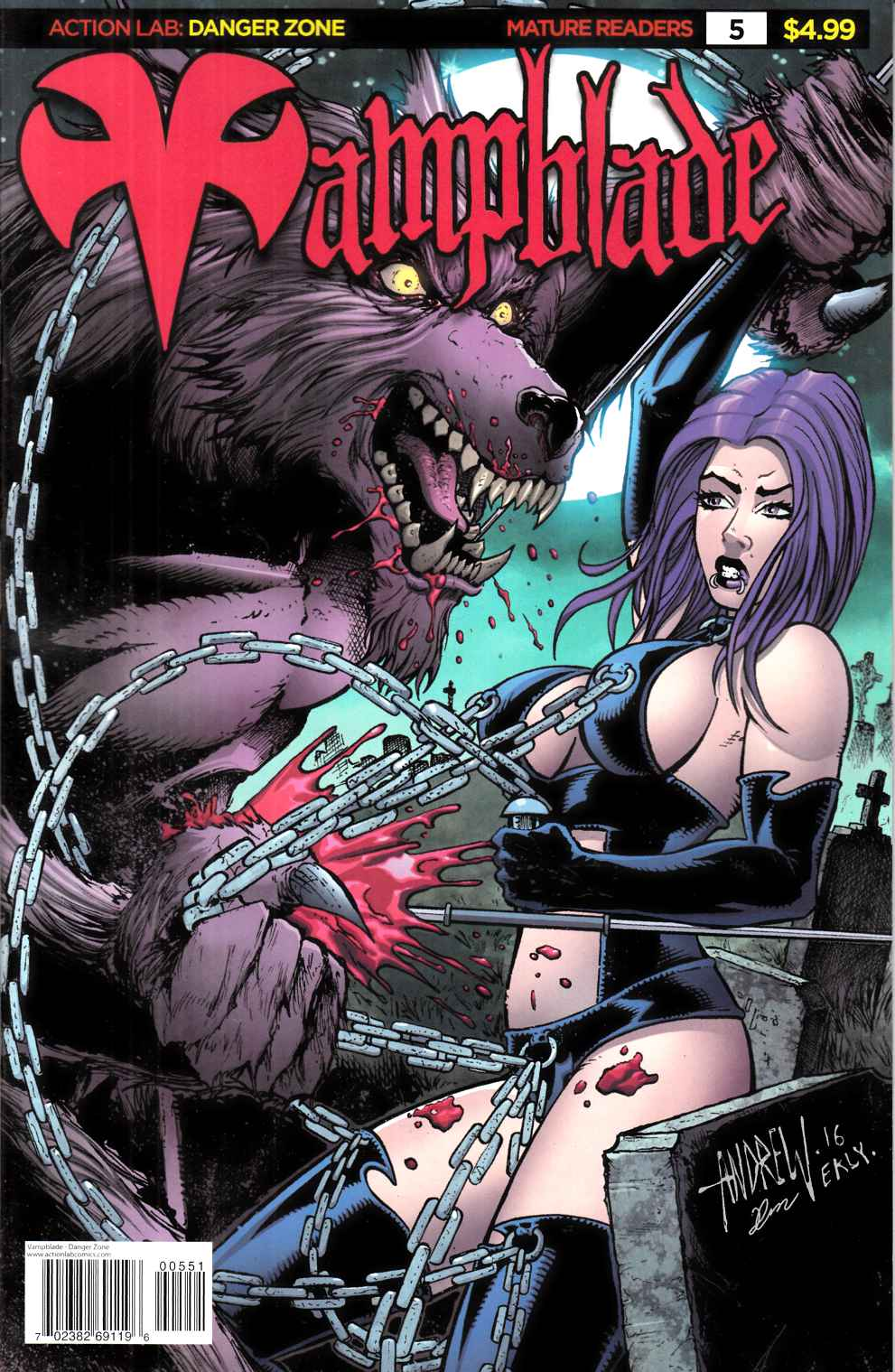 Vampblade #5 Cover E- 90s Monster [Action Lab Comic] LARGE