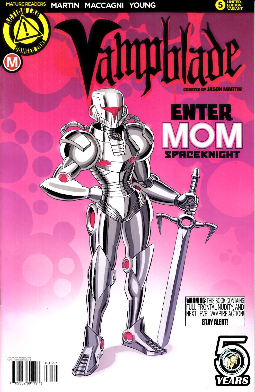 Vampblade #5 Cover B- Mom Spaceknight [Action Lab Comic] LARGE