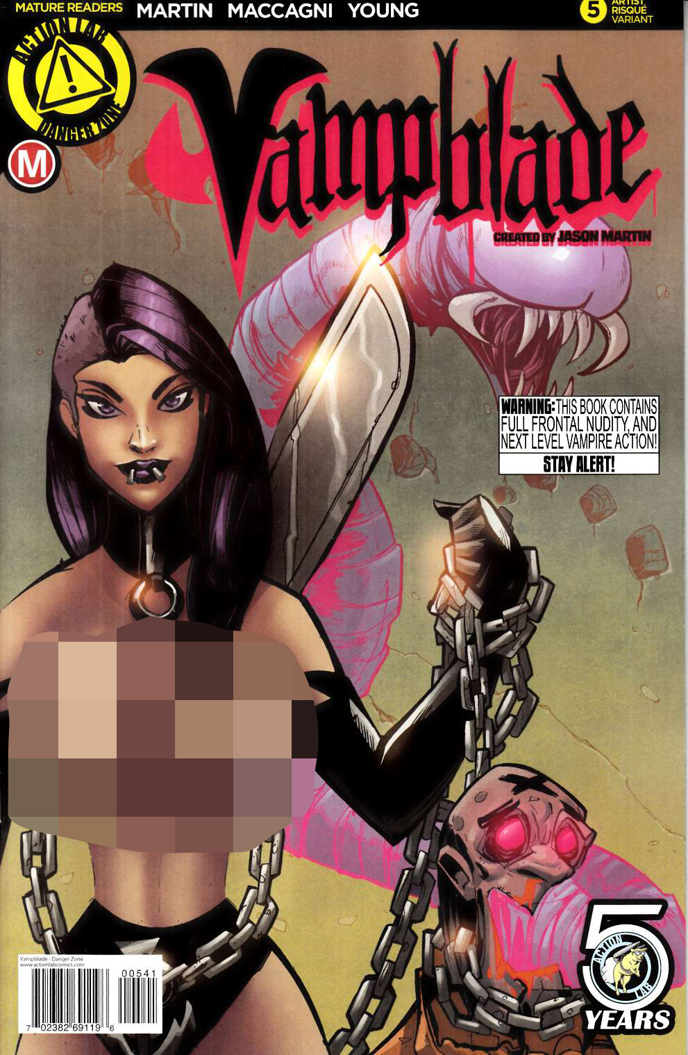 Vampblade #5 Cover D- Trom Risque [Action Lab Comic] LARGE