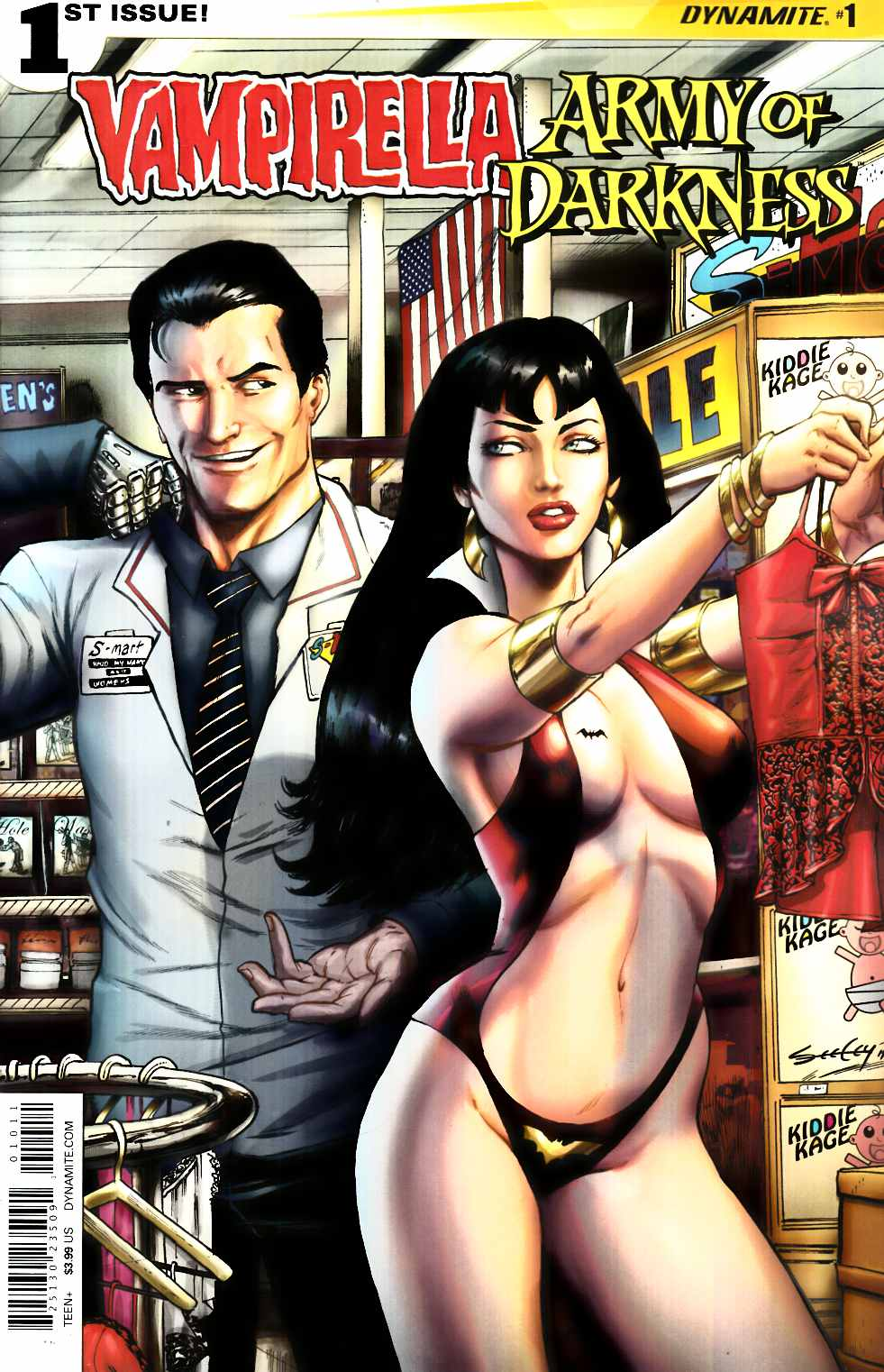 Vampirella Army of Darkness #1 Cover A- Seeley [Dynamite Comic]_THUMBNAIL