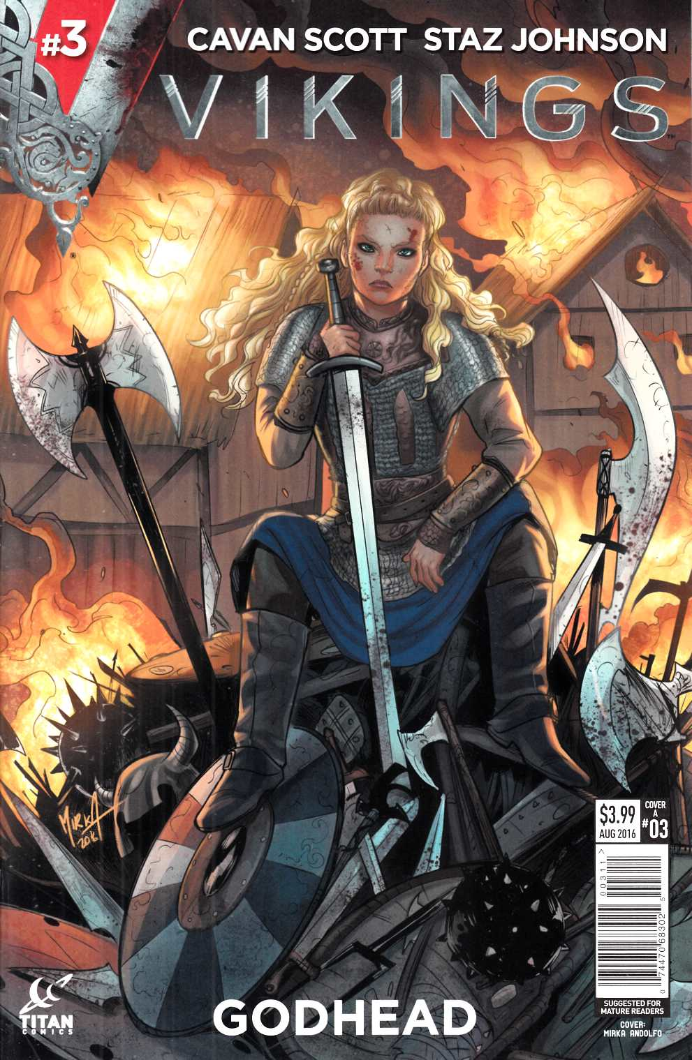 Vikings #3 Cover A- Andolfo [Titan Comic] THUMBNAIL