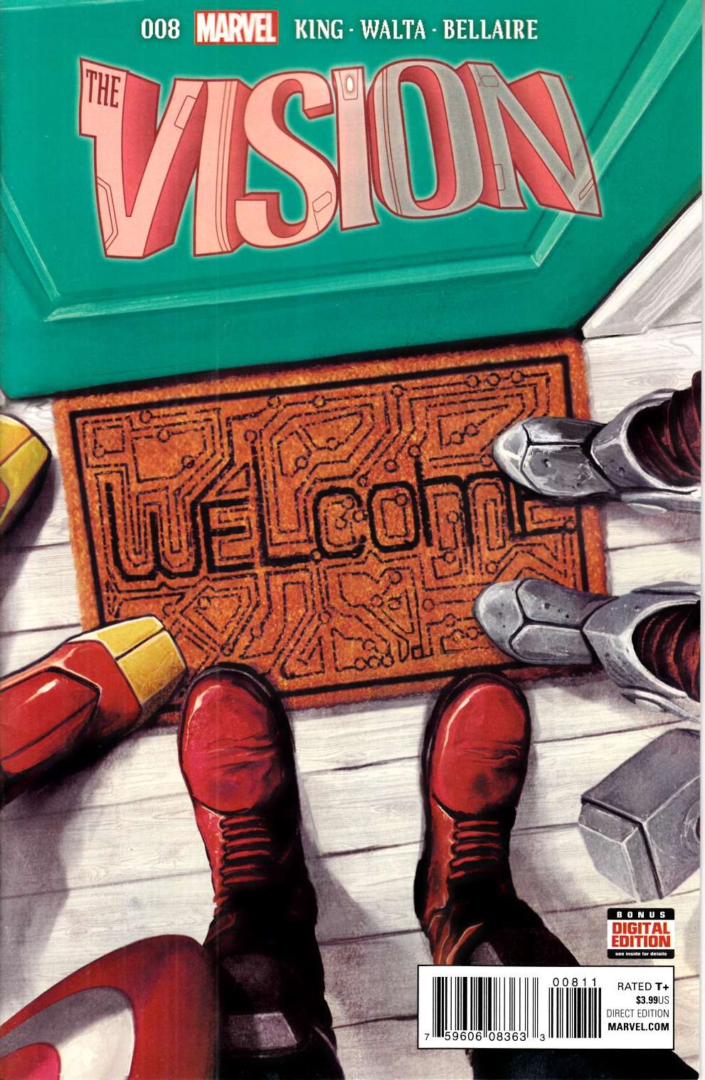 Vision #8 Near Mint (9.4) [Marvel Comic] THUMBNAIL