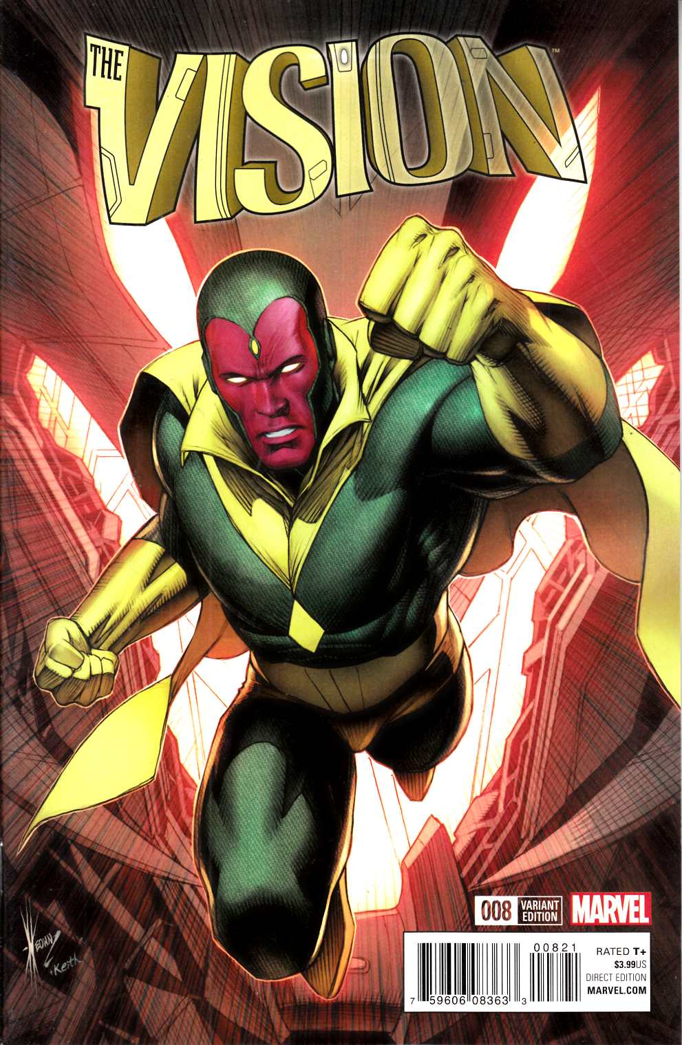 Vision #8 Keown Classic Variant [Marvel Comic] LARGE