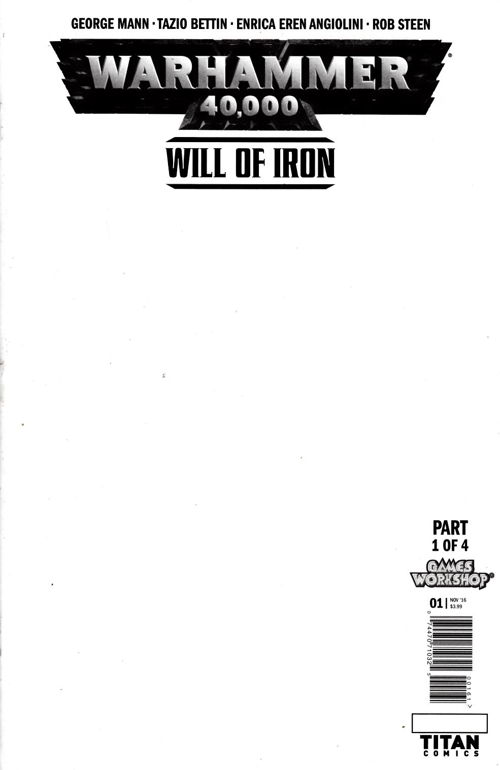 Warhammer 40000 Will of Iron #1 Cover F- Blank [Titan Comic] THUMBNAIL