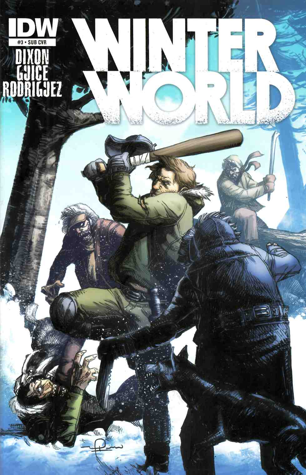Winterworld #3 Subscription Cover [IDW Comic] THUMBNAIL