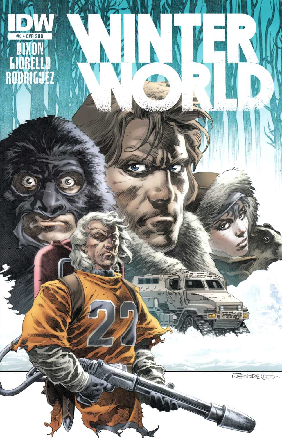 Winterworld #6 Subscription Cover [IDW Comic] THUMBNAIL