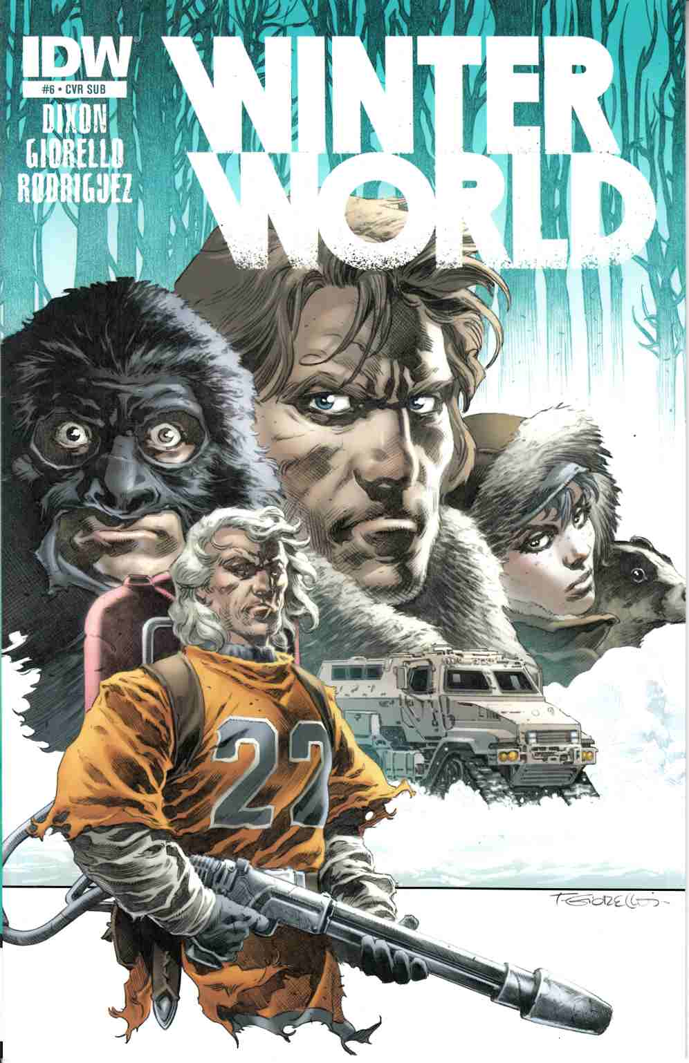 Winterworld #7 Subscription Cover [IDW Comic] THUMBNAIL