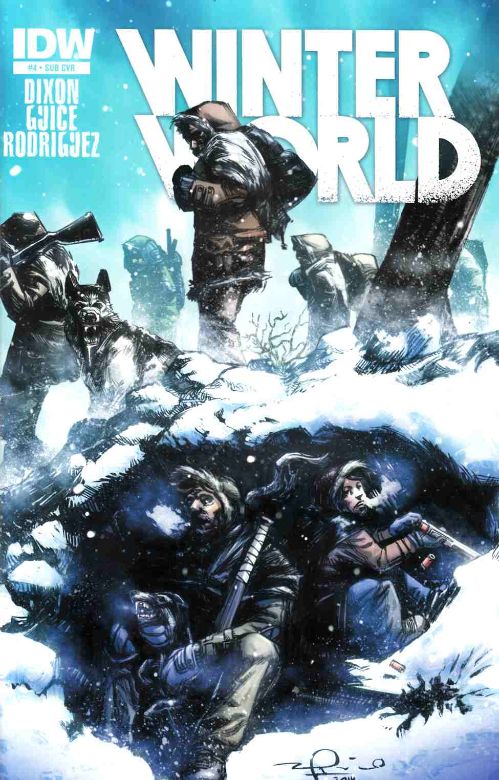 Winterworld #4 Subscription Cover [IDW Comic] LARGE