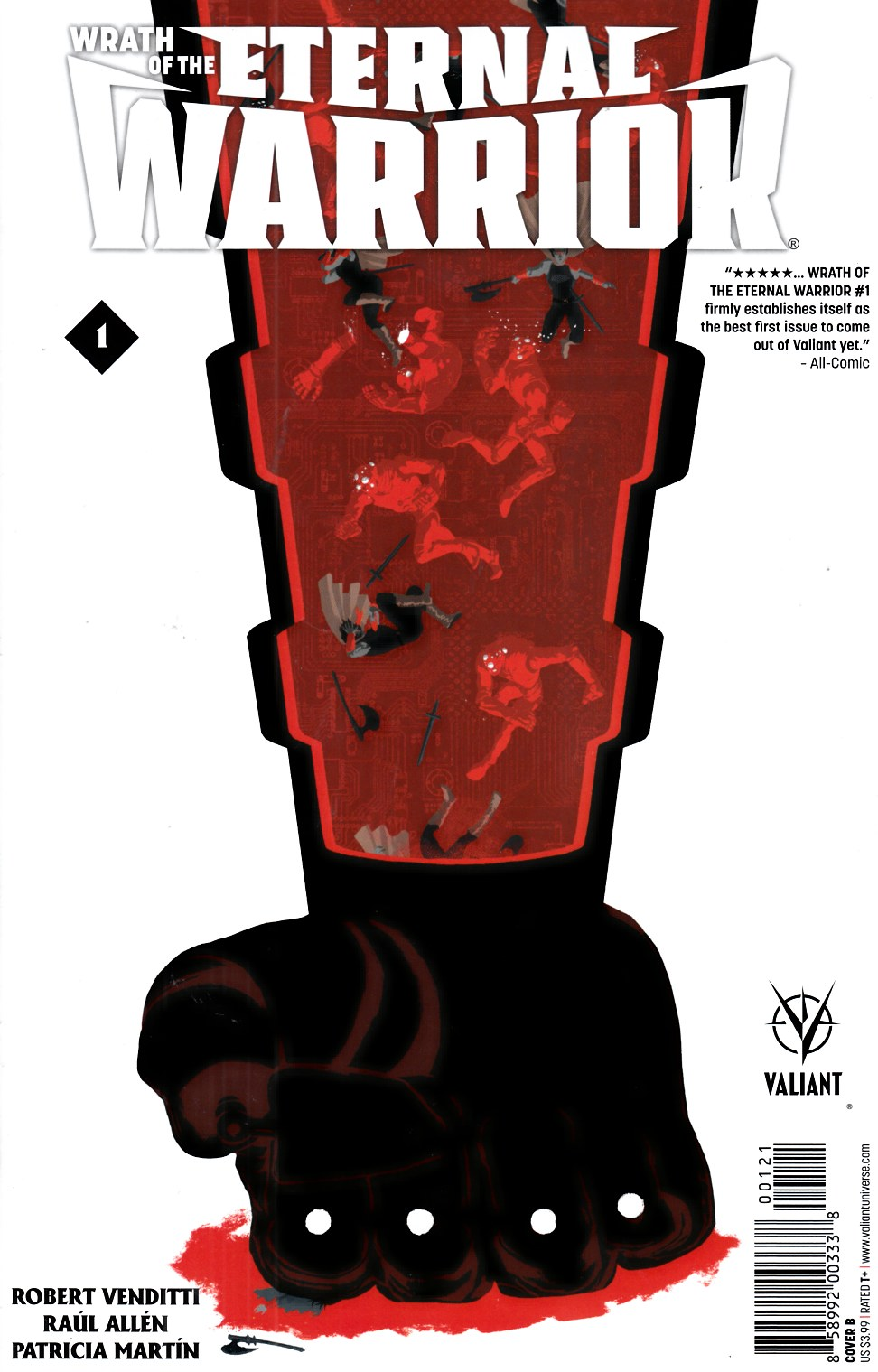 Wrath of the Eternal Warrior #1 Cover B- Allen [Valiant Comic] THUMBNAIL