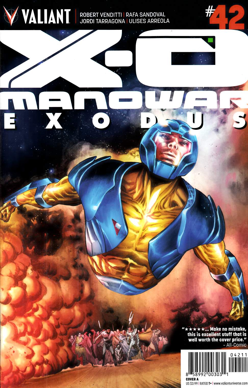 X-O Manowar #42 Cover A- Sandoval [Valiant Comic] THUMBNAIL