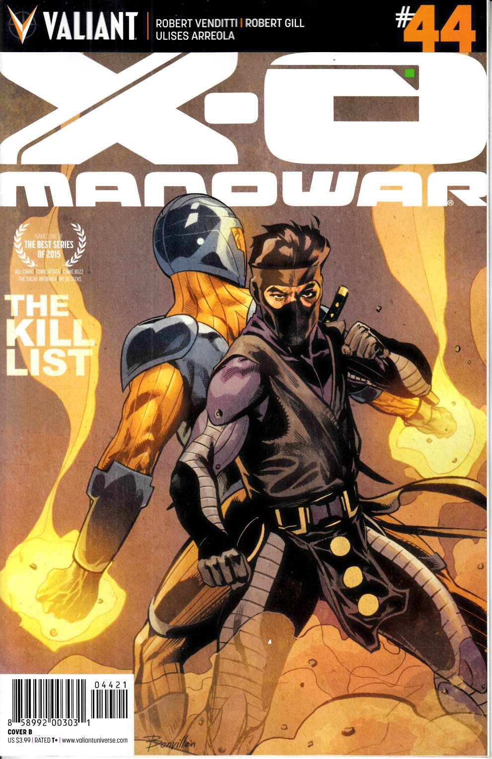 X-O Manowar #44 Cover B- Mooney [Valiant Comic] THUMBNAIL