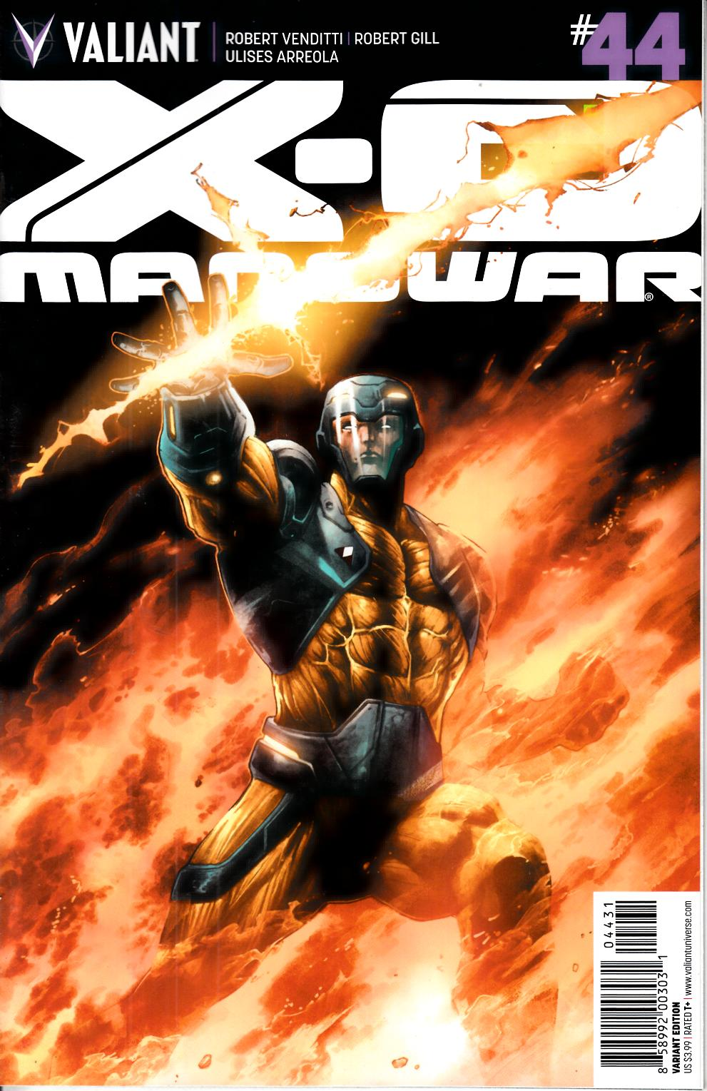 X-O Manowar #44 Cover C- Segovia Incentive [Valiant Comic] THUMBNAIL
