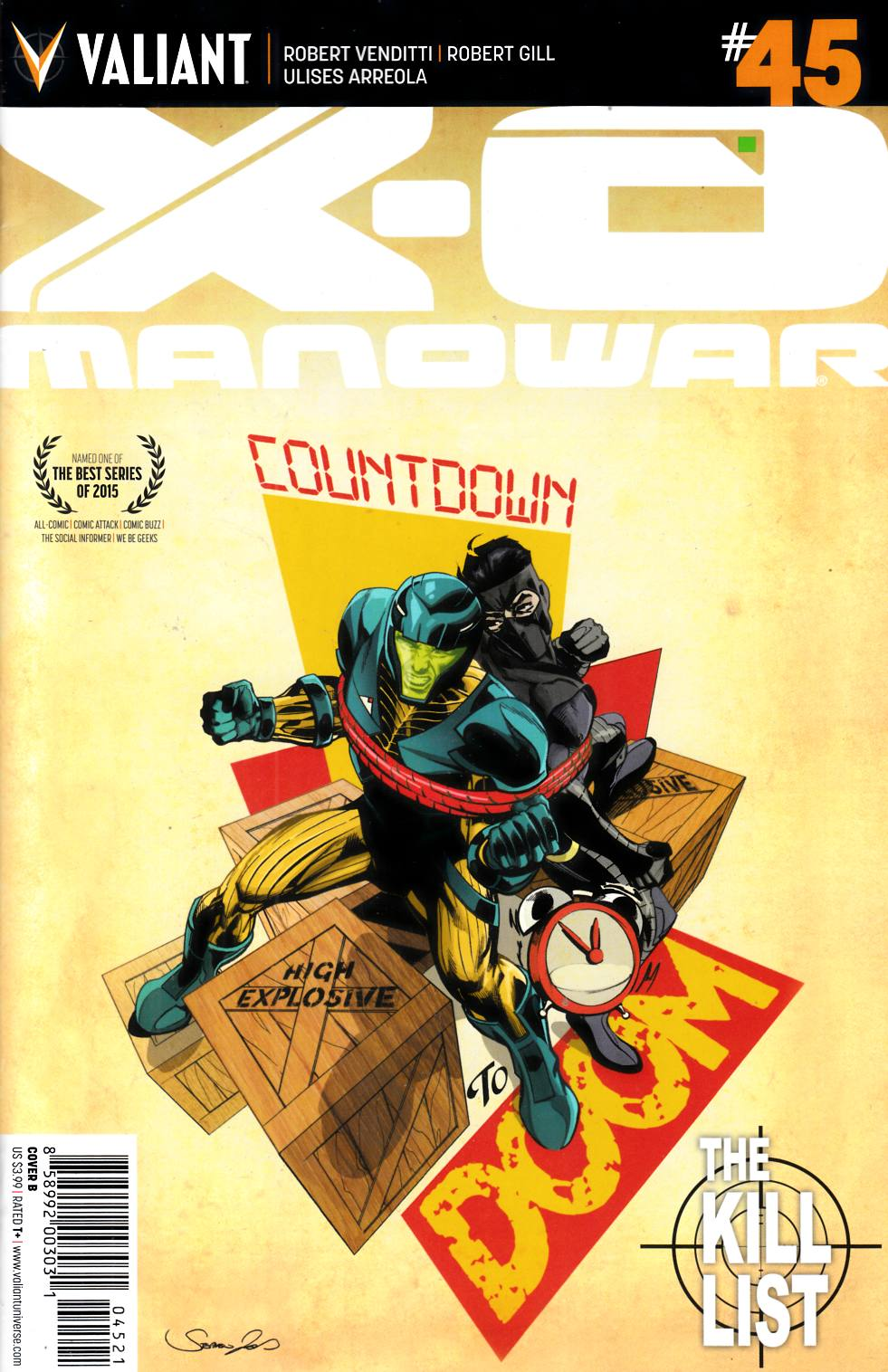 X-O Manowar #45 Cover B- Mooney [Valiant Comic] THUMBNAIL