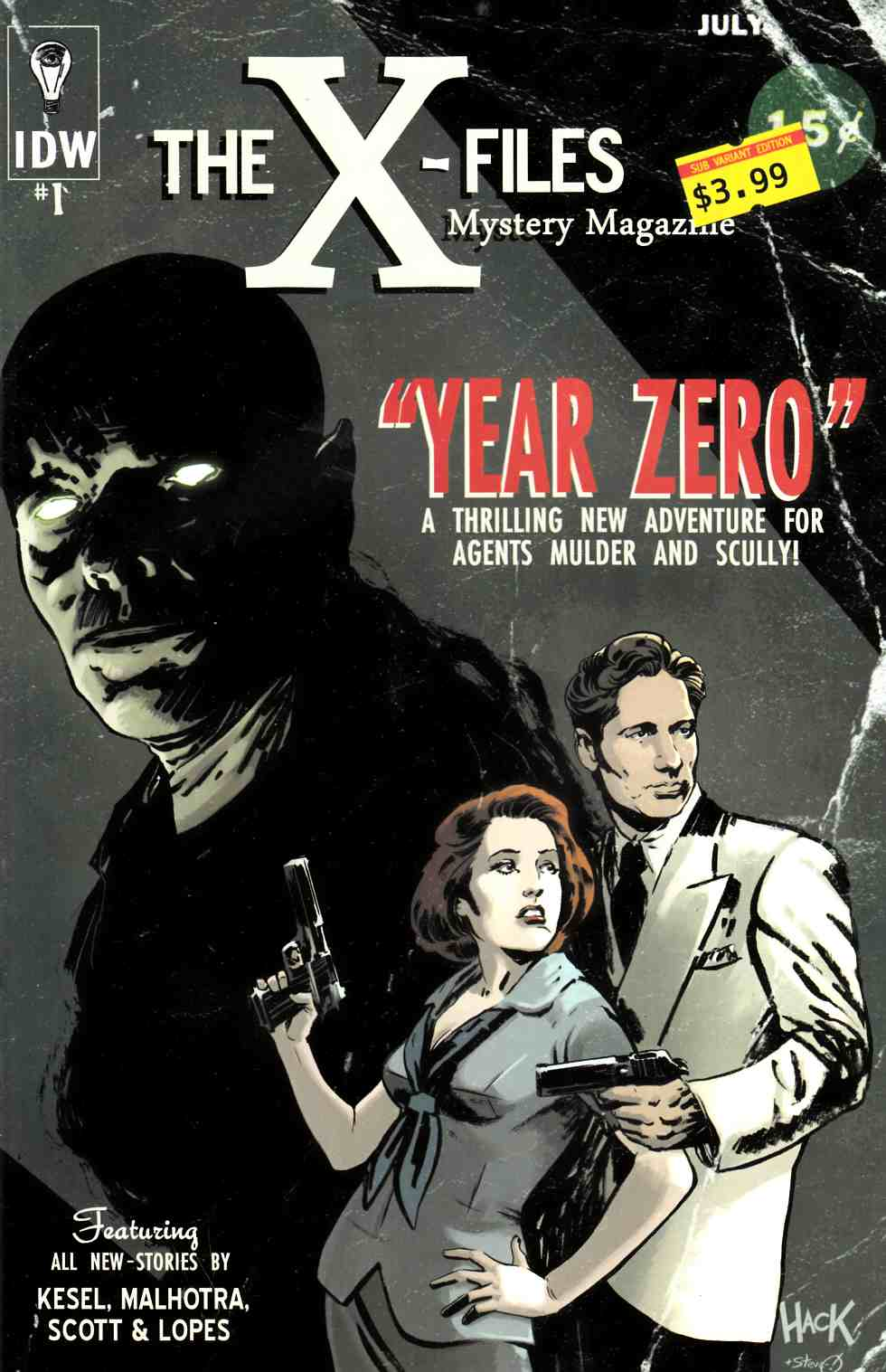 X-Files Year Zero #1 Subscription Cover [Comic] THUMBNAIL