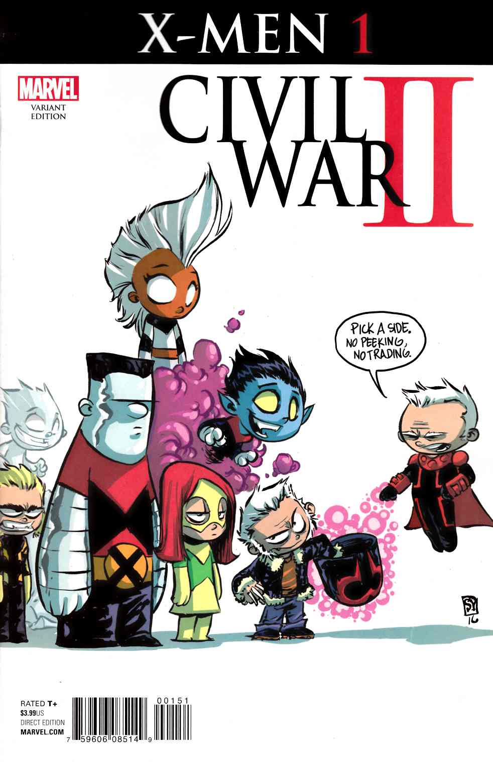 Civil War II X-Men #1 Young Variant Cover [Marvel Comic] LARGE