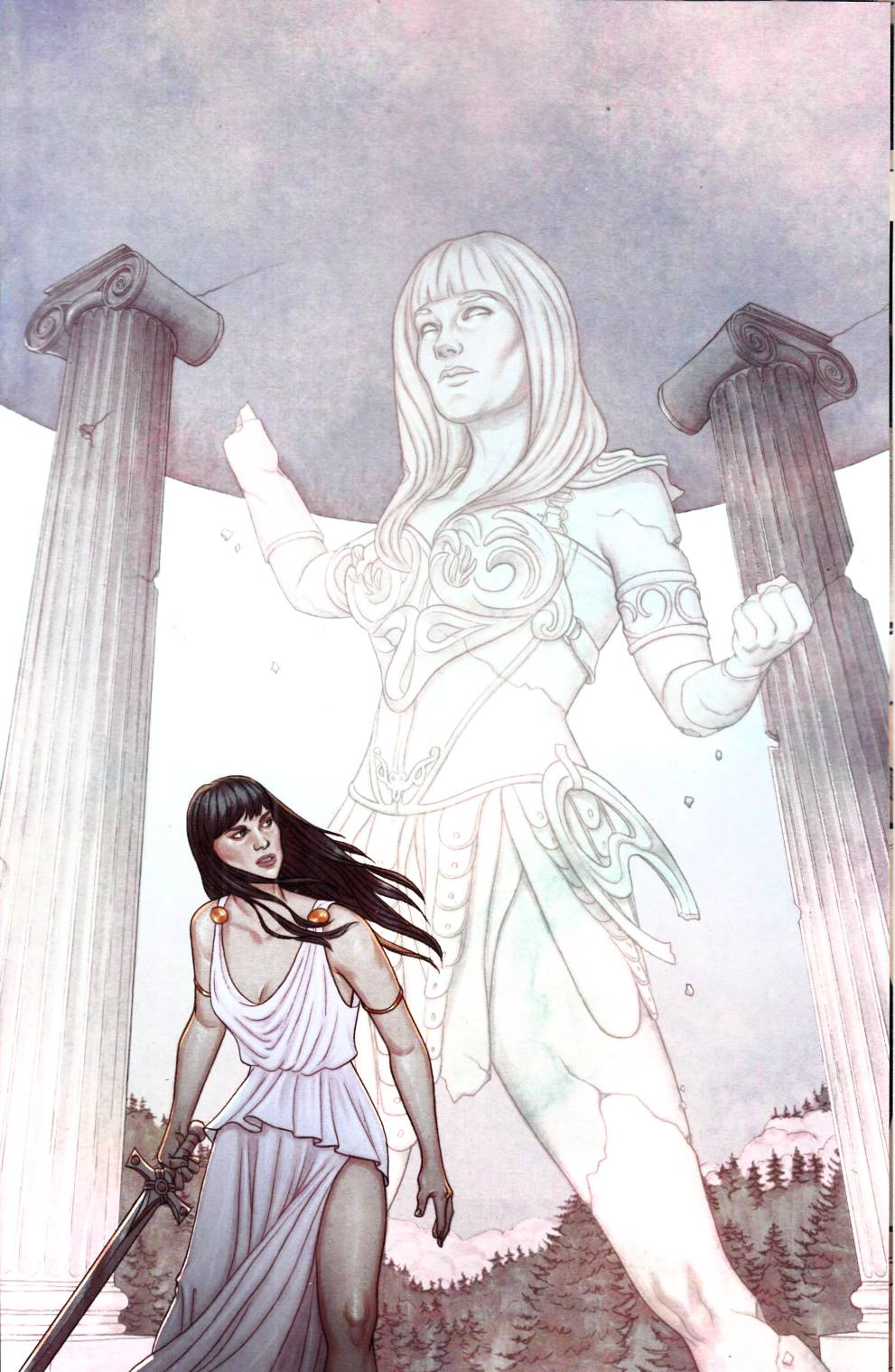 Xena Warrior Princess #3 Frison Virgin Incentive Cover [Dynamite Comic]