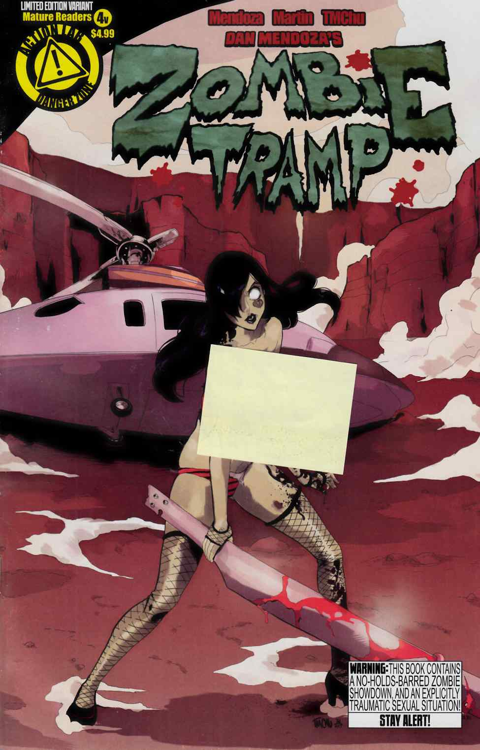 Zombie Tramp Ongoing #4 Risque Cover [Action Lab Comic] THUMBNAIL