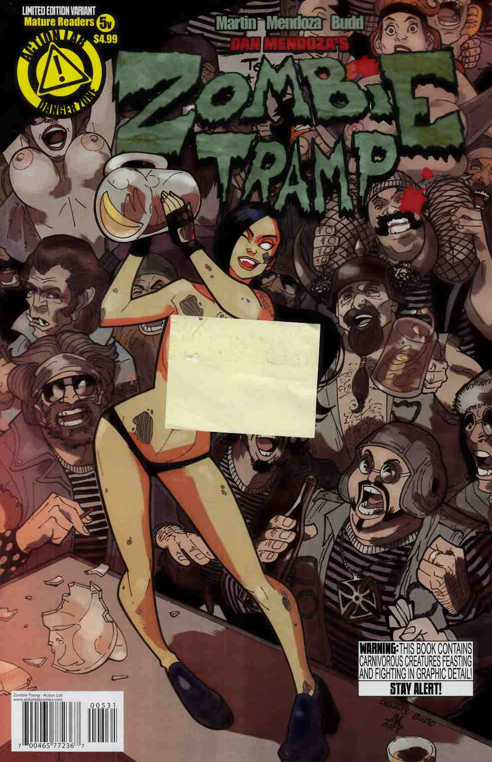 Zombie Tramp Ongoing #5 Risque Variant Cover [Danger Zone Comic] THUMBNAIL