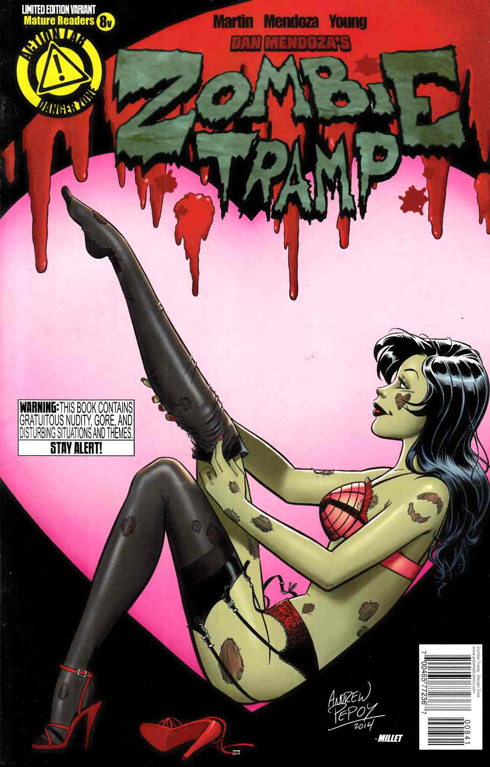 Zombie Tramp Ongoing #8 Valentine Cover [Action Lab Comic]
