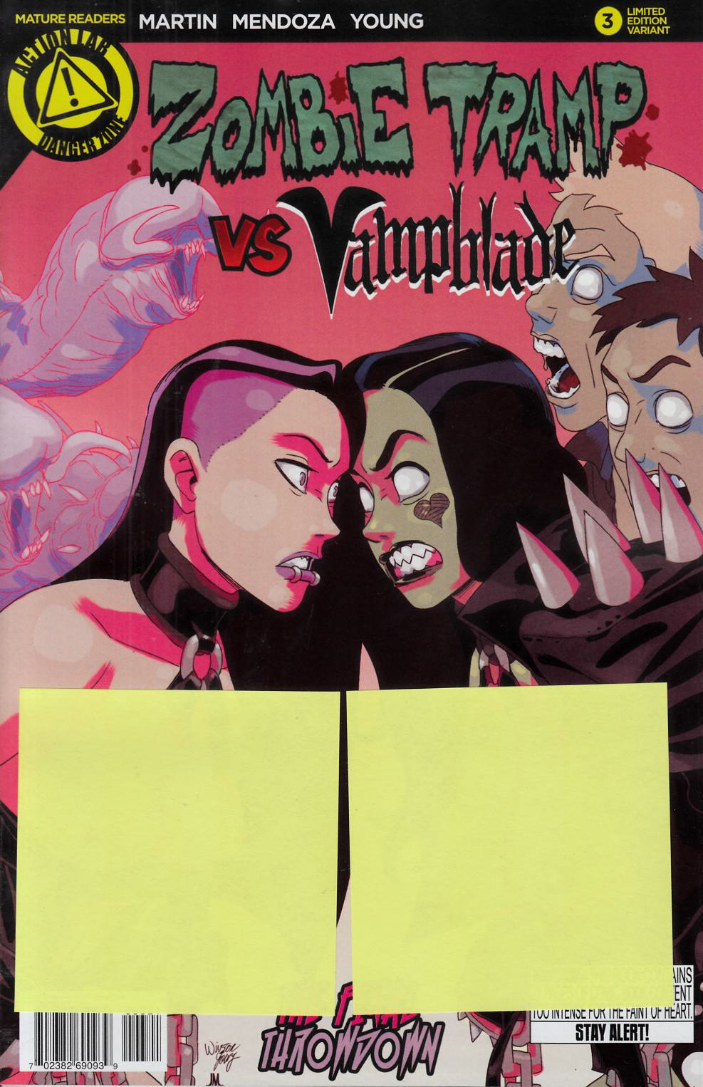 Zombie Tramp vs Vampblade #3 Vampblade Risque Variant Cover [Danger Zone Comic]