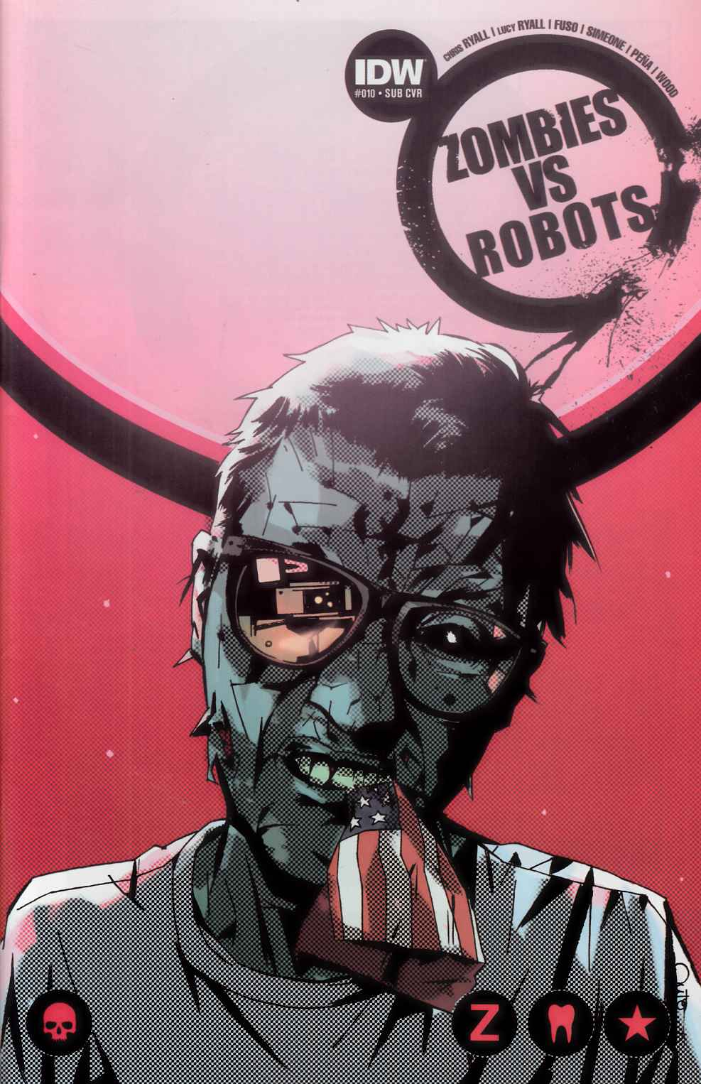 Zombies Vs Robots #10 Subscription Cover [IDW Comic] THUMBNAIL