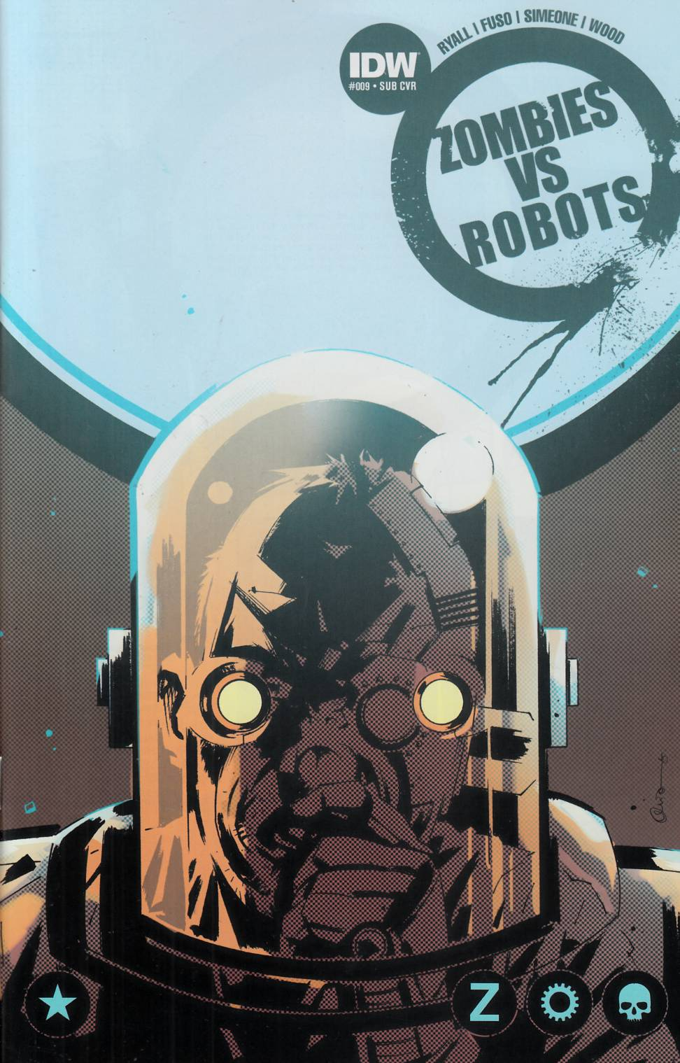 Zombies Vs Robots #9 Subscription Cover [IDW Comic] THUMBNAIL
