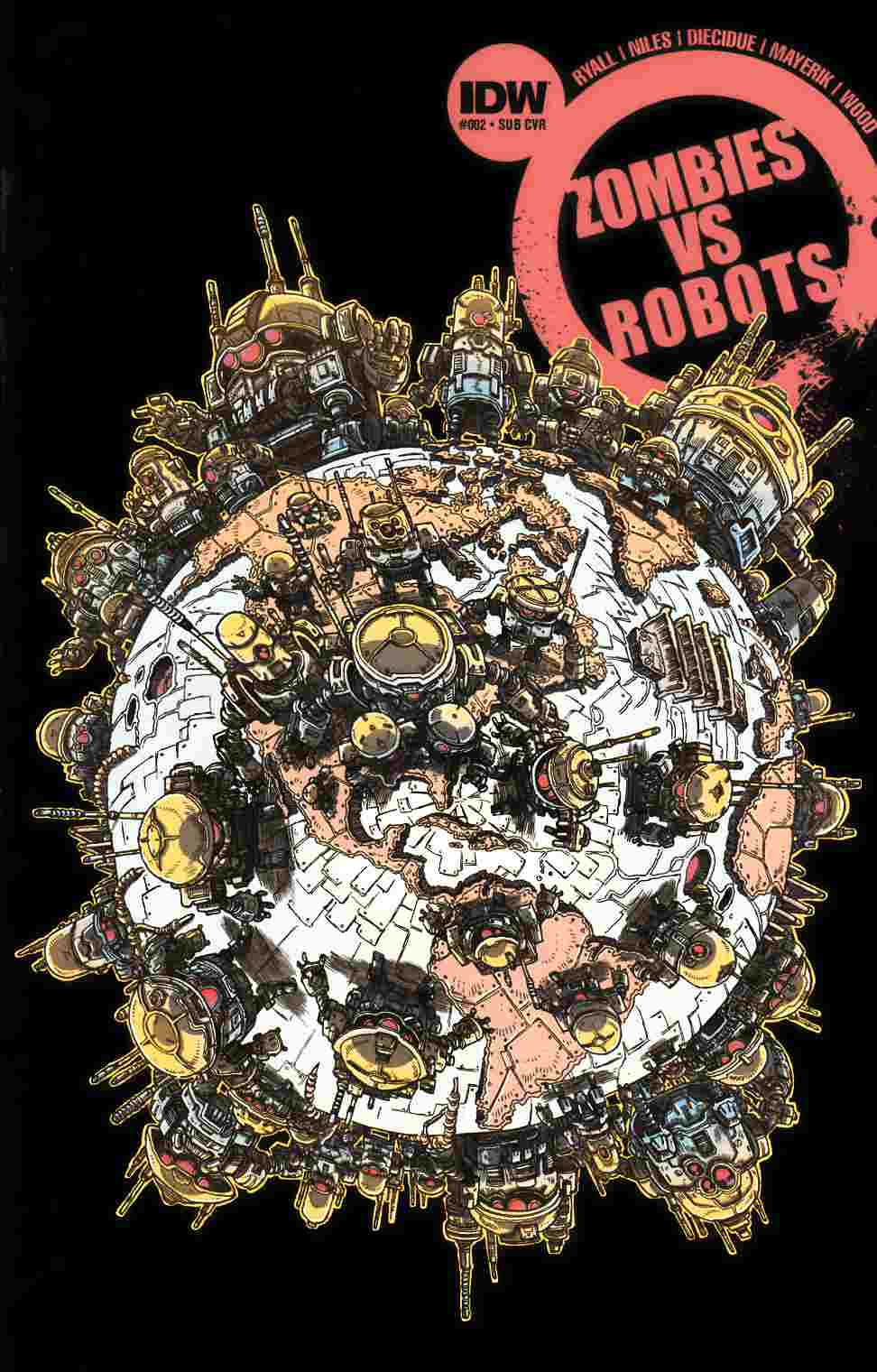 Zombies vs Robots #2 Subscription Cover [IDW Comic] THUMBNAIL