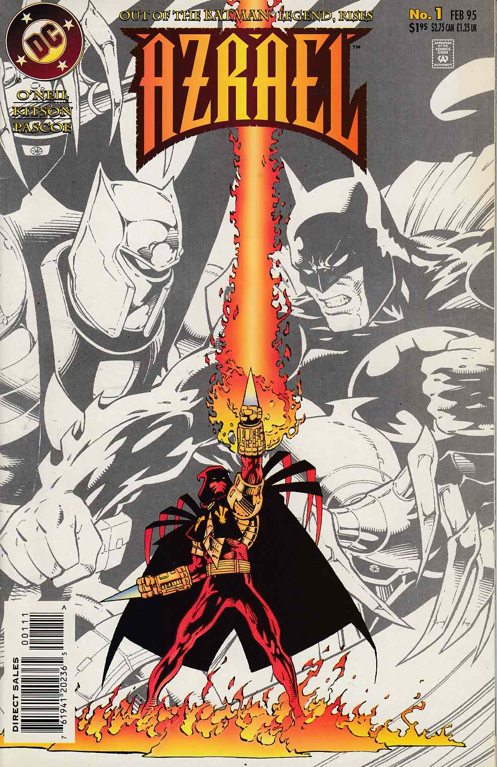 Azrael Agent of the Bat #1 Near Mint (9.4) [DC Comic] THUMBNAIL
