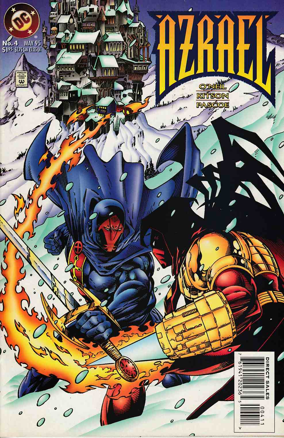Azrael Agent of the Bat #4 Near Mint (9.4) [DC Comic] THUMBNAIL