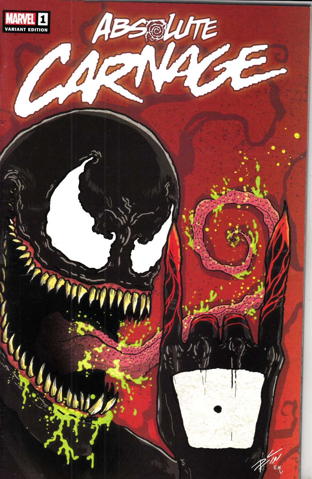 Absolute Carnage #1 Midtown Cates Variant Cover Near Mint (9.4) [Marvel Comic] LARGE