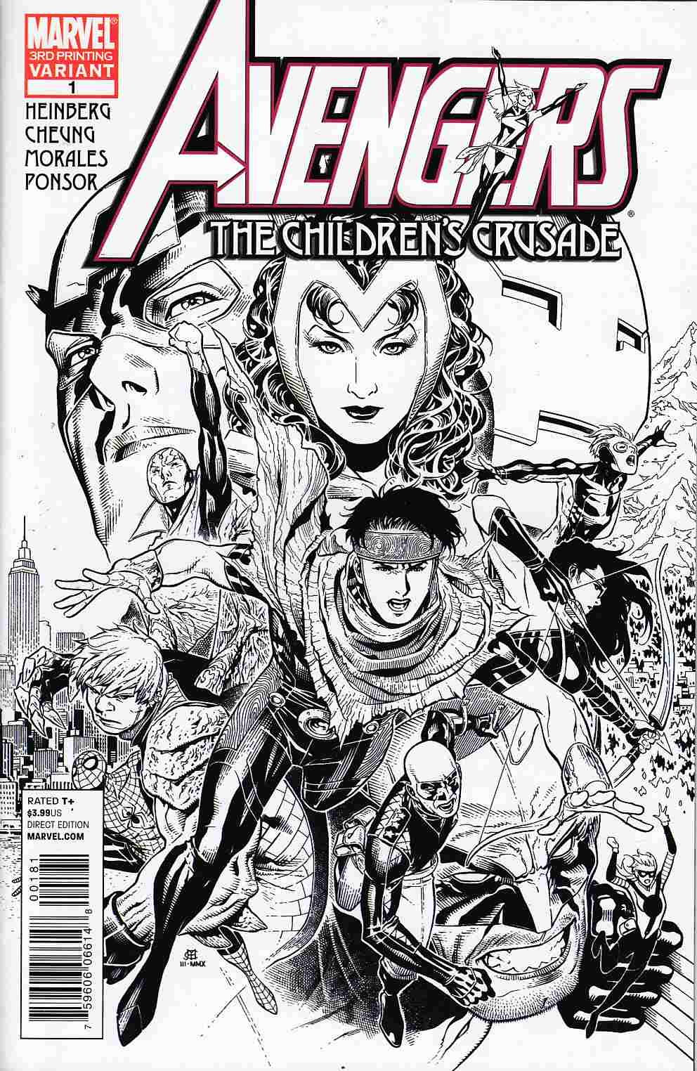 Avengers Childrens Crusade #1 Third Printing Near Mint (9.4) [Marvel Comic] THUMBNAIL