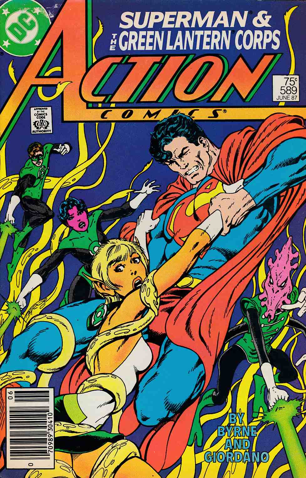 Action Comics #589 Newsstand Edition Fine (6.0) [DC Comic] LARGE