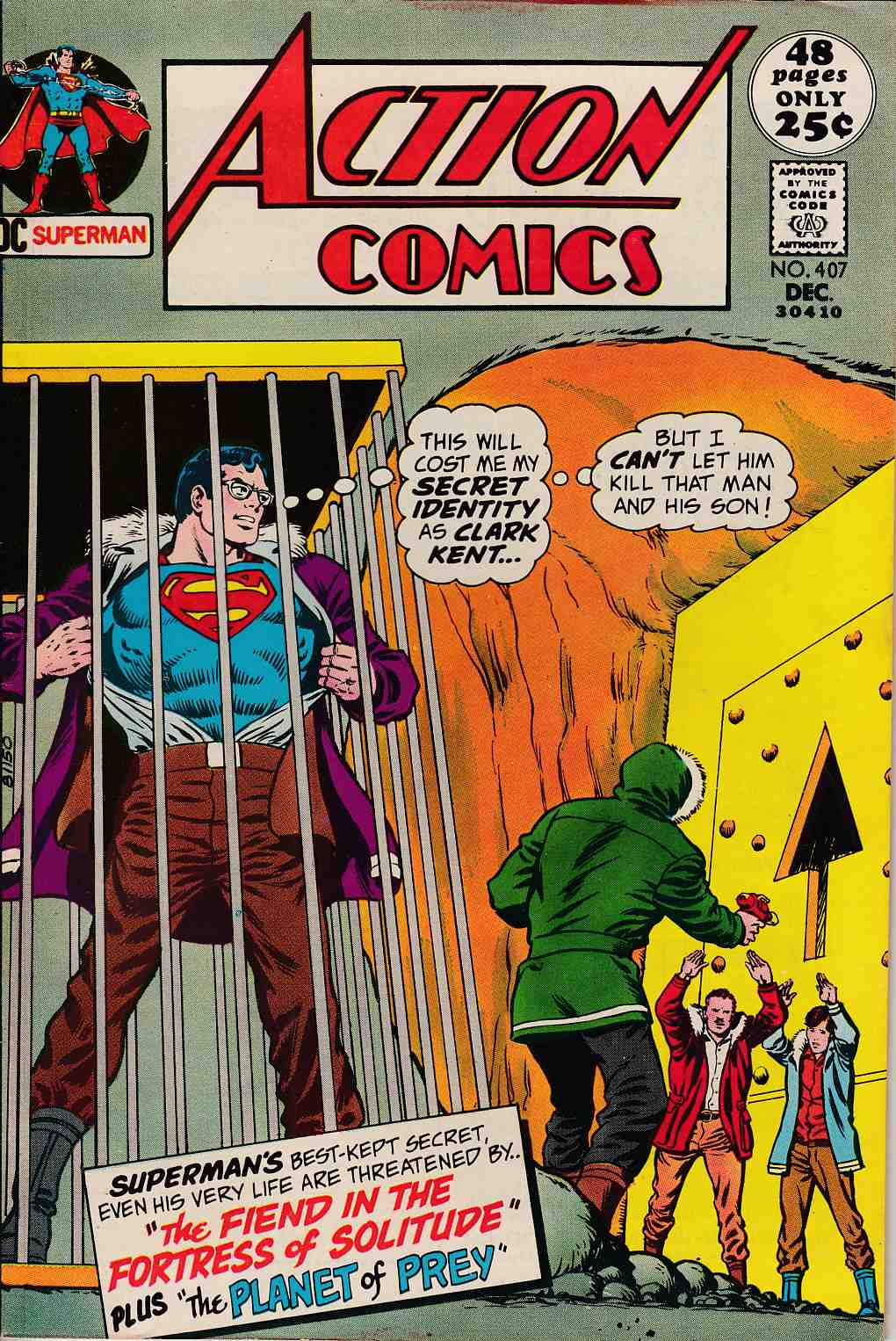 Action Comics #407 Fine/Very Fine (7.0) [DC Comic]_LARGE