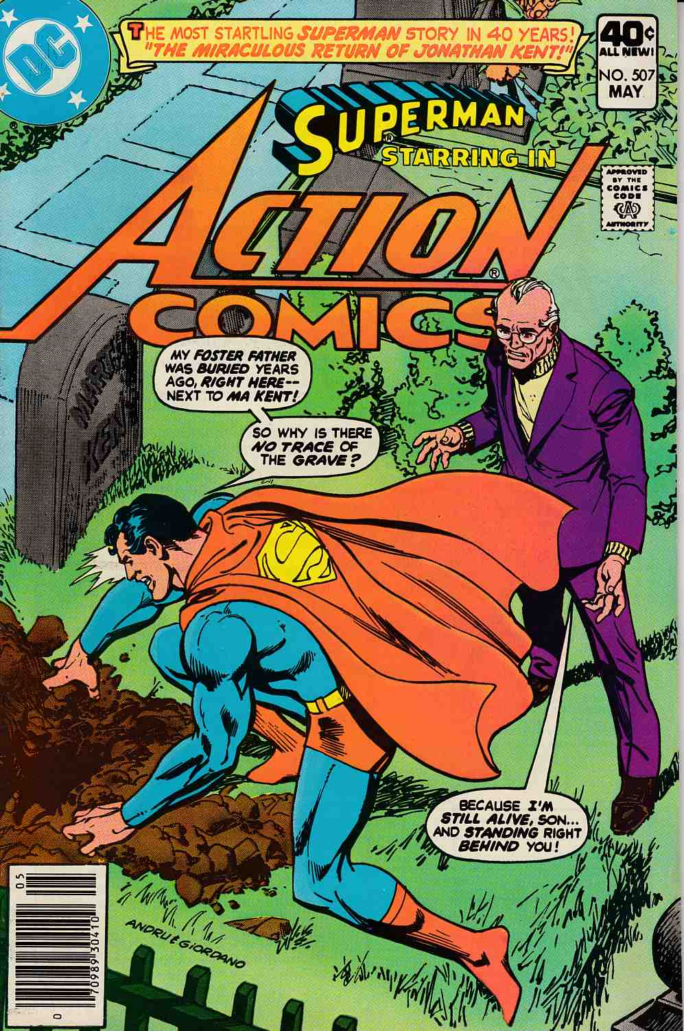 Action Comics #507 Fine Plus (6.5) [DC Comic] LARGE
