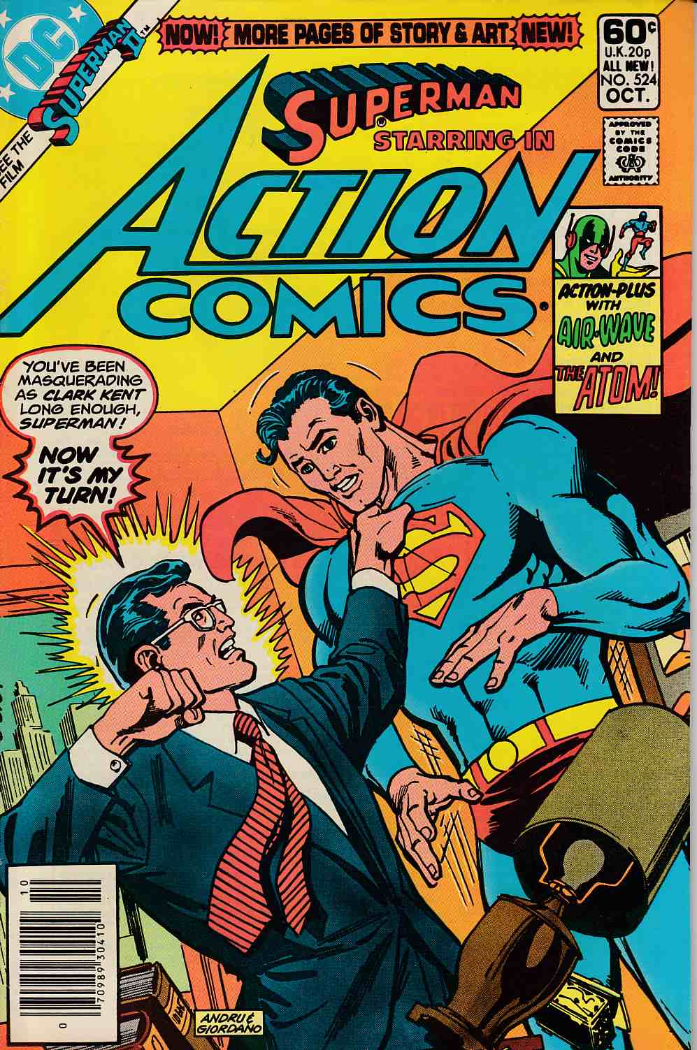 Action Comics #524 Newsstand Edition Fine Plus (6.5) [DC Comic] LARGE