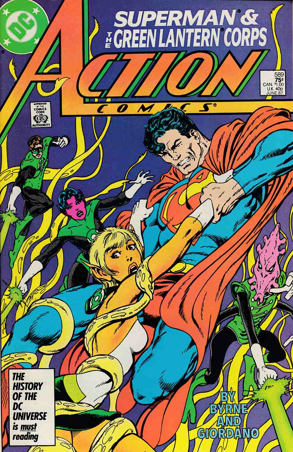 Action Comics #589 Near Mint Minus (9.2) [DC Comic] LARGE