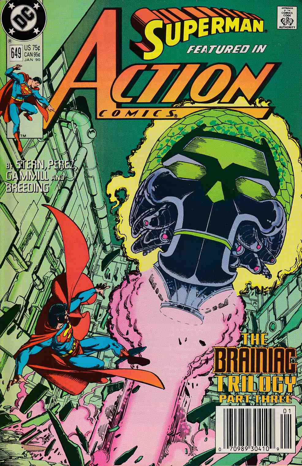 Action Comics #649 Newsstand Edition Very Fine (8.0) [DC Comic] LARGE